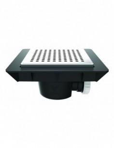 Bonde sol réglable extra-plat de marque QUADRATTO avec une sortie horizontale