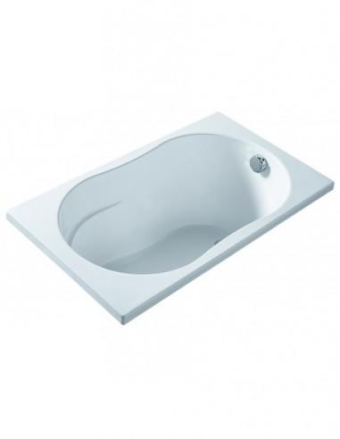 Baignoire droite MINIME avec habillage à encastrer avec une longueur et une largeur de 120 x 70 cm
