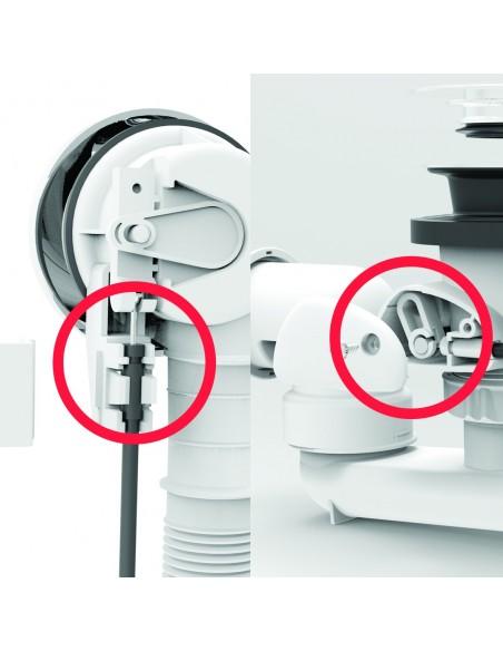 Vidage de baignoire 650 mm facile à installer avec joint Autofix double