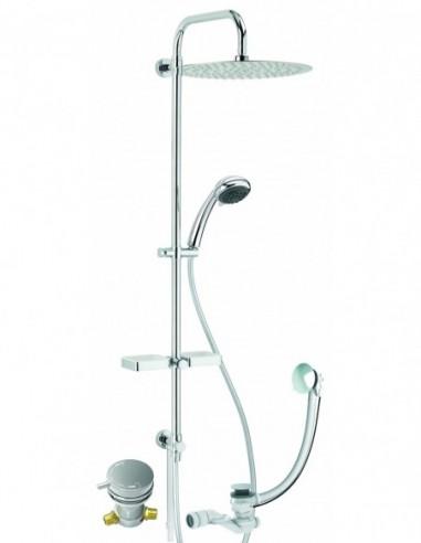 Équipement complet pour baignoire bain-douche Comodo avec robinet