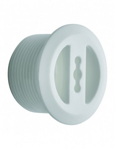 Overflow trim D.30 mm for synthetic material basin, 6/12 mm tightening, L. 20 mm cuttable, white for ref. 5930