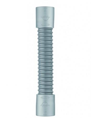 Raccord souple  flexible en PVC gris équipé d'embouts en ABS de Diam.40mm et de longueur 260 mm