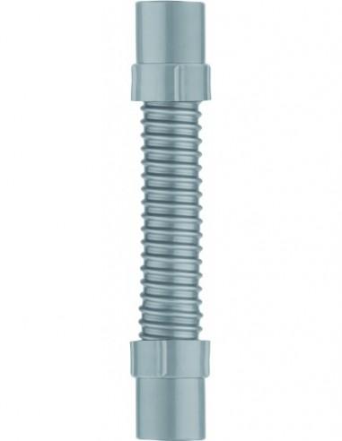 Raccord souple  flexible en PVC gris embouts en ABS de Diam.40mm et longueur 260 mm