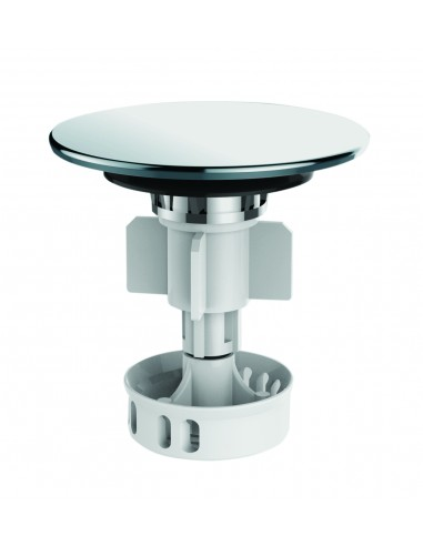 Digiclic plug for washbasin drain, filter basket, stainless steel
