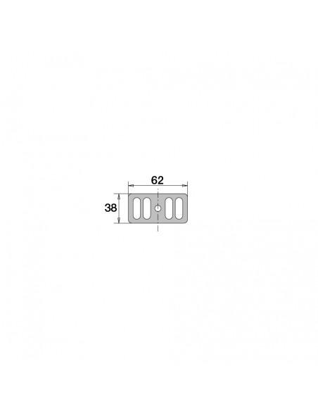 Drawing 061800 000 00 Sink overflow grid 38 x 62 mm stainless steel